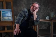 Foto: Steffen Jensen | Den langelandske kunstner Keld Nielsen i sit atelier.