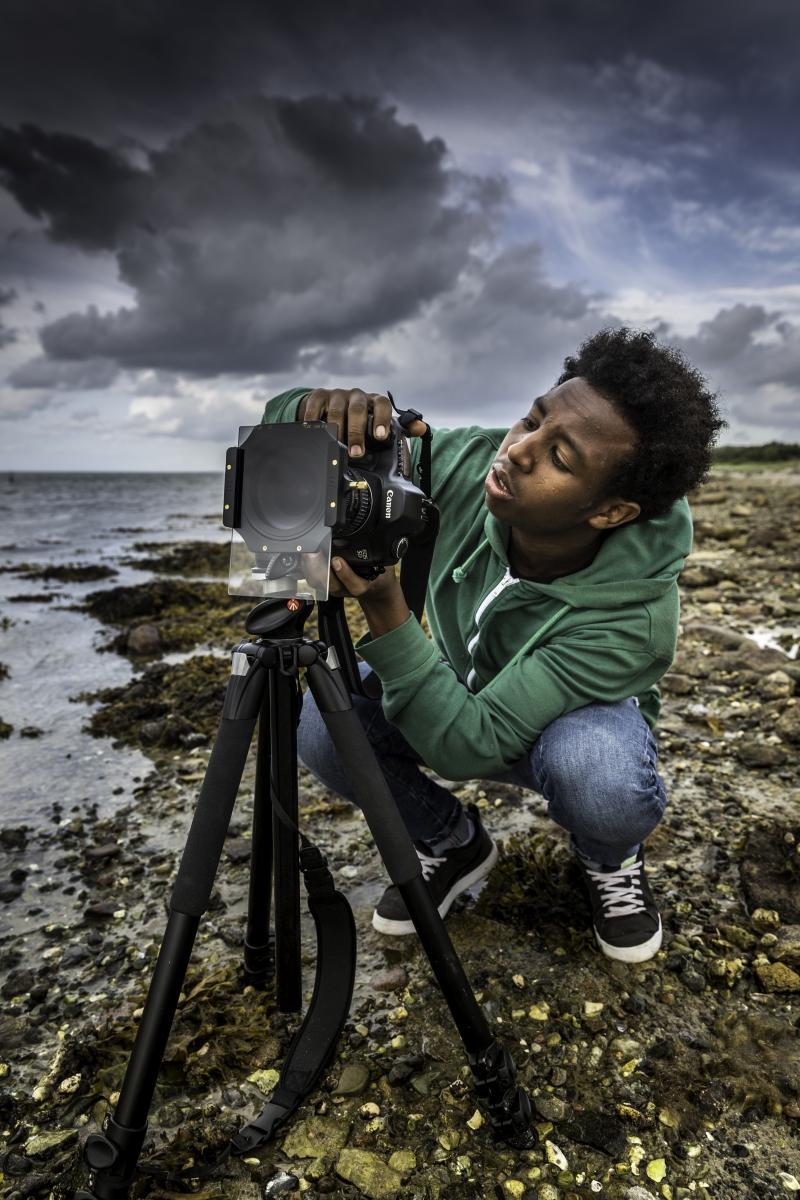 Foto: Steffen Jensen | Jhon fra Eritrea viste sig som et kæmpenæssigt fotografisk talent. Han tager fantastiske billeder.