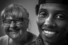 Foto: Steffen Jensen | Et enkelt par som jeg desværre ikke længere husker navnene på. En flygtning fra Somalia og hans danske besøgsven.