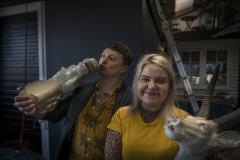 Foto: Steffen Jensen | Thomas Wetle Andersen og Kamilla Kristensen. To af Læsøs unge iværksættere i deres gourmetpub.