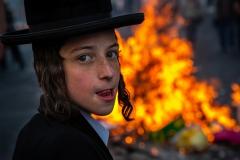 Foto: Steffen Jensen | Ultra ortodoks dreng ved demonstration i Jerusalem