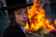 Foto: Steffen Jensen   Ultra ortodoks dreng ved demonstration i Jerusalem